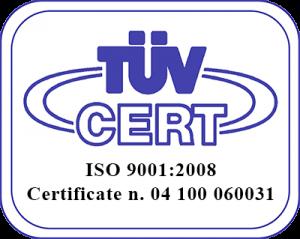 Ad System certificazione IOS 9000:2008 TUV CERT